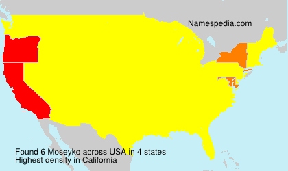 Surname Moseyko in USA