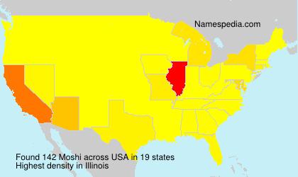Familiennamen Moshi - USA