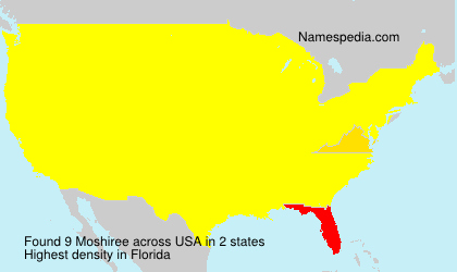 Surname Moshiree in USA
