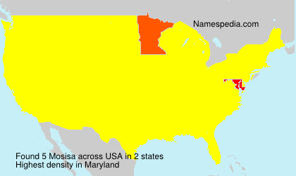 Surname Mosisa in USA