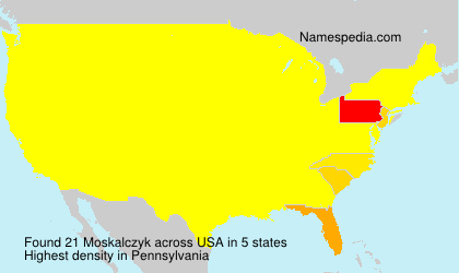 Surname Moskalczyk in USA