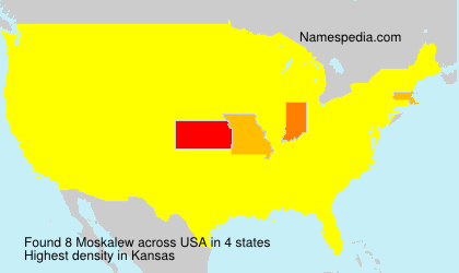 Surname Moskalew in USA