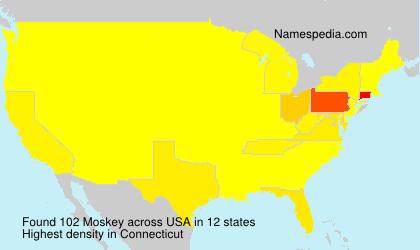 Familiennamen Moskey - USA