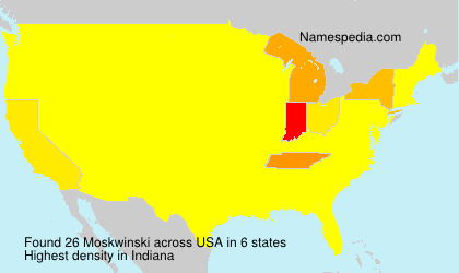 Surname Moskwinski in USA