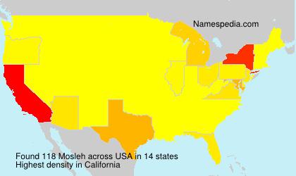 Familiennamen Mosleh - USA