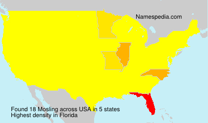 Surname Mosling in USA