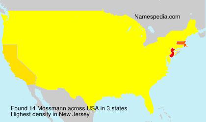 Surname Mossmann in USA