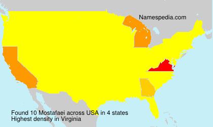 Surname Mostafaei in USA