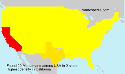 Surname Mostamand in USA