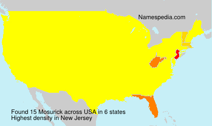 Surname Mosurick in USA