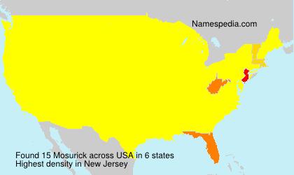 Surname Mosurick in USA
