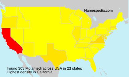 Surname Motamedi in USA