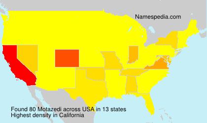 Surname Motazedi in USA