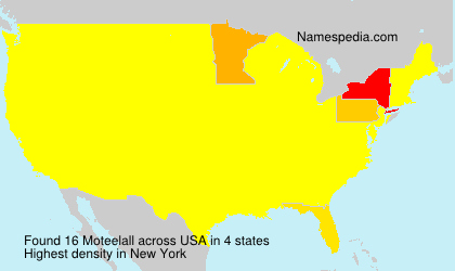 Surname Moteelall in USA