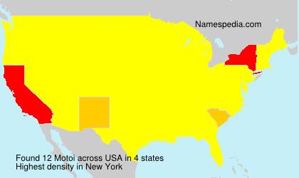 Surname Motoi in USA