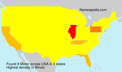 Surname Motor in USA