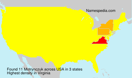 Surname Motrynczuk in USA