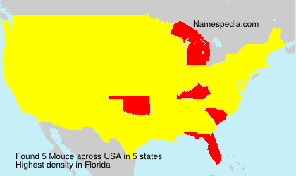 Surname Mouce in USA