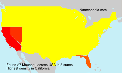 Surname Mouchou in USA