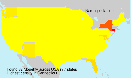 Surname Moughty in USA