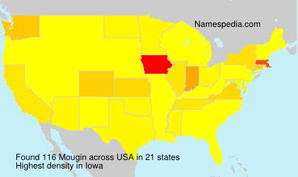 Surname Mougin in USA