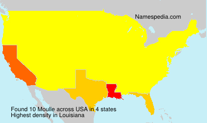 Surname Moulle in USA