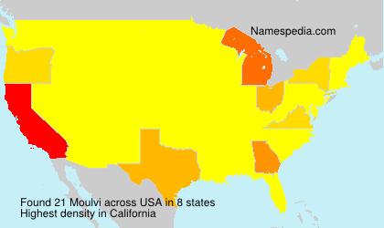Surname Moulvi in USA