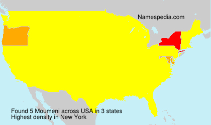 Familiennamen Moumeni - USA