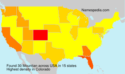 Surname Mountian in USA