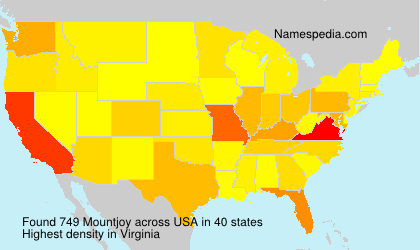 Surname Mountjoy in USA