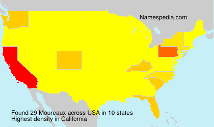Surname Moureaux in USA