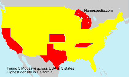 Surname Mousawi in USA