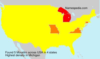 Familiennamen Mouslim - USA