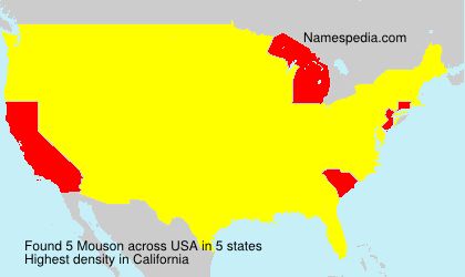 Surname Mouson in USA