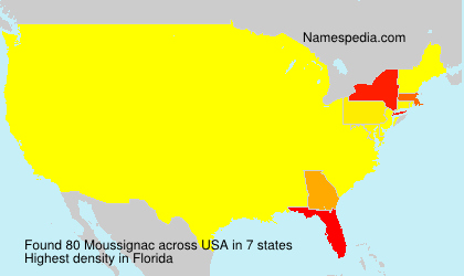 Surname Moussignac in USA