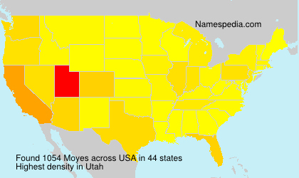 Surname Moyes in USA