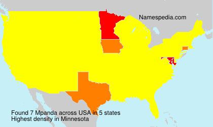 Surname Mpanda in USA