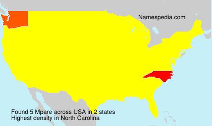 Surname Mpare in USA