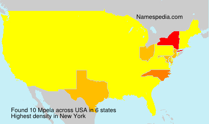 Surname Mpela in USA