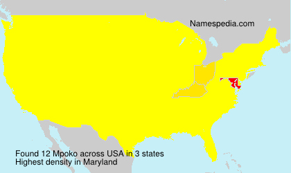 Surname Mpoko in USA
