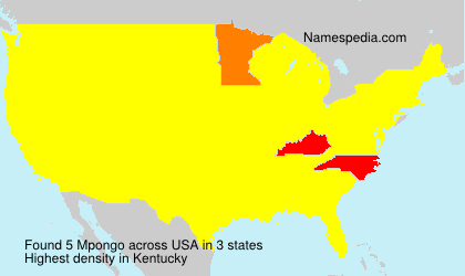 Surname Mpongo in USA