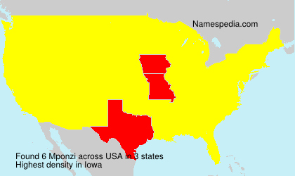 Surname Mponzi in USA