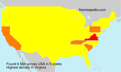 Surname Mpt in USA