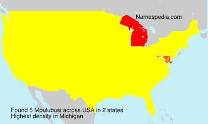 Surname Mpulubusi in USA