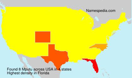 Surname Mputu in USA
