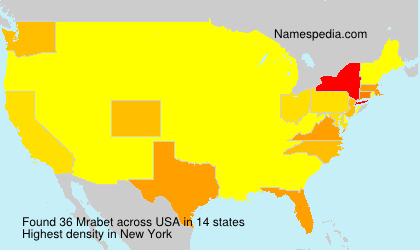 Surname Mrabet in USA