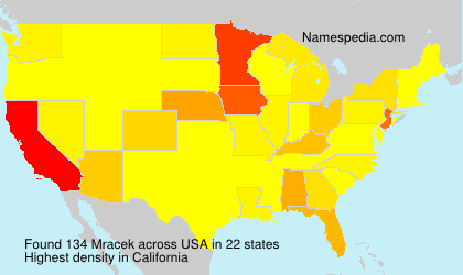 Surname Mracek in USA