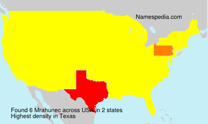 Surname Mrahunec in USA