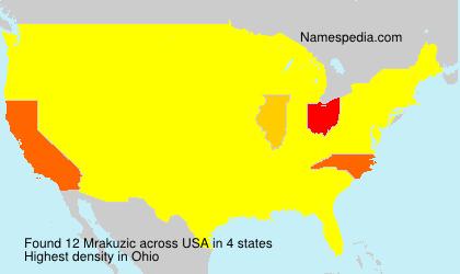 Surname Mrakuzic in USA