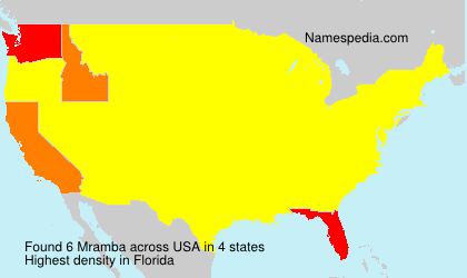 Surname Mramba in USA